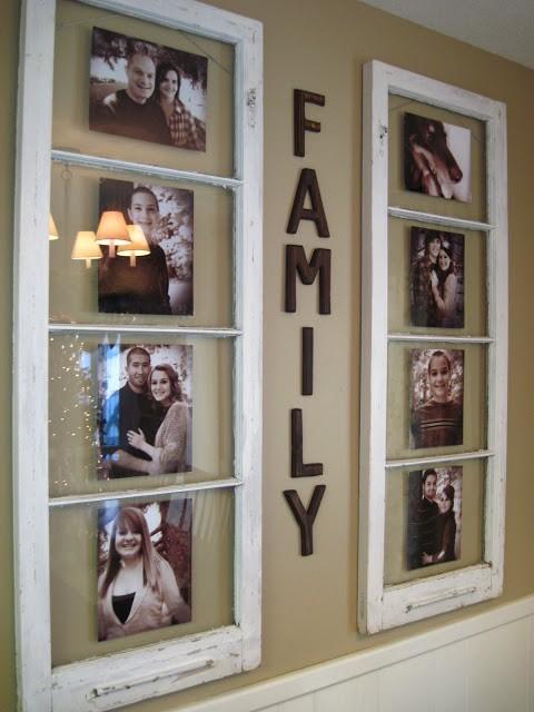 Utiliser de vieilles fenêtres pour afficher des photos de famille