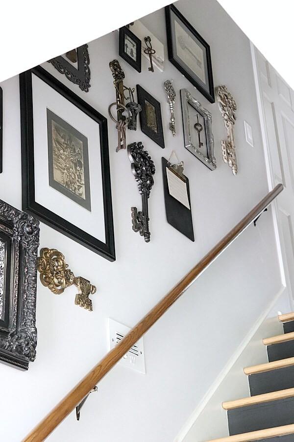 Escalier transformé avec des numéros