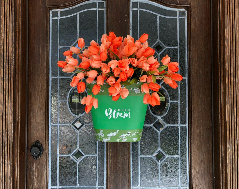 Tulipe pour décoration de porte d'entrée