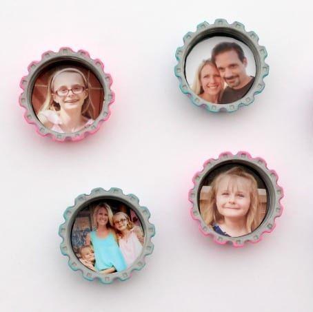 Aimants photo en forme de bouchon de bouteille