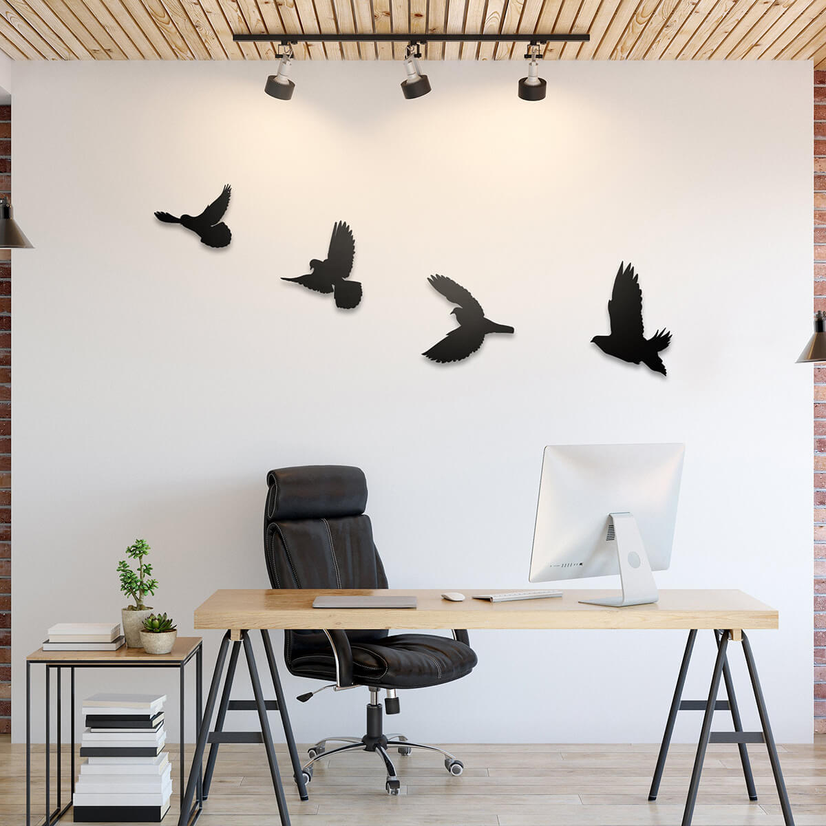 Art mural en métal - Oiseau volant