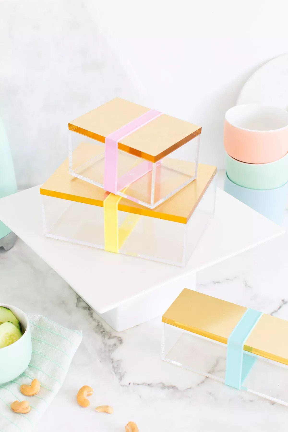 Boîte à Bento dorée DIY