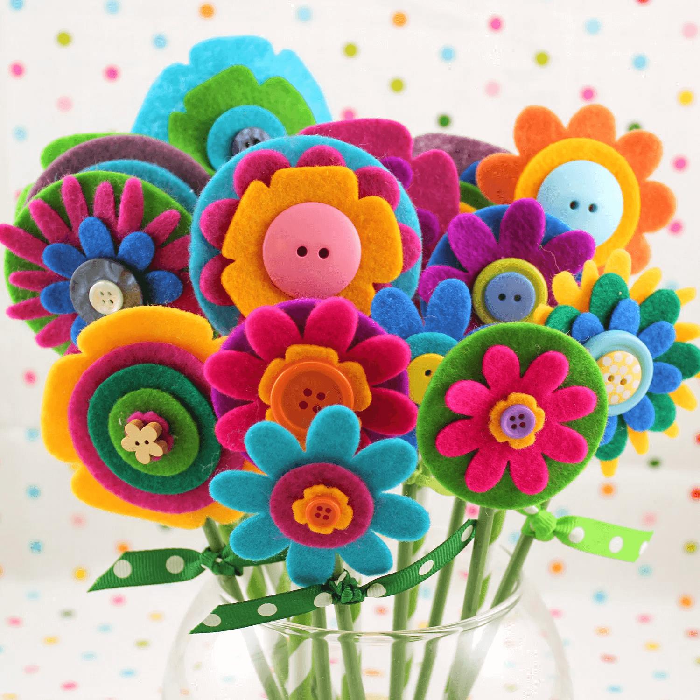 Bouquet de fleurs en feutre DIY