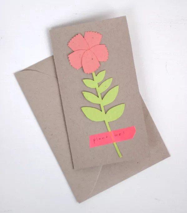 Carte Planter une fleur (DIY)