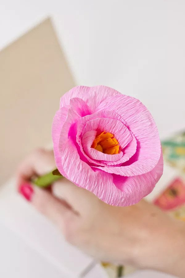 Crayon à fleurs DIY