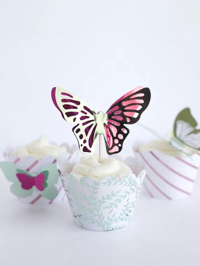 Décorations de cupcakes en forme de papillon