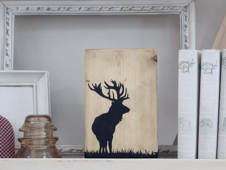 Elan en bois fait main - Art décoratif
