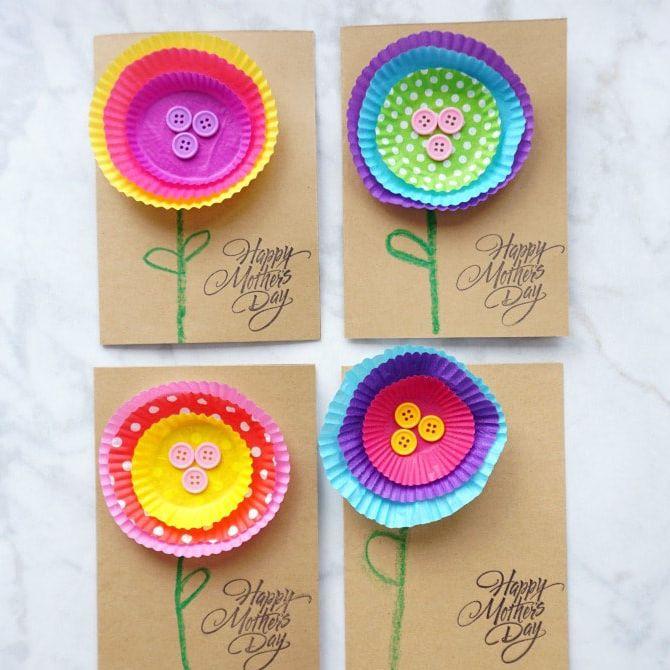 Fleurs de pochettes de cupcakes