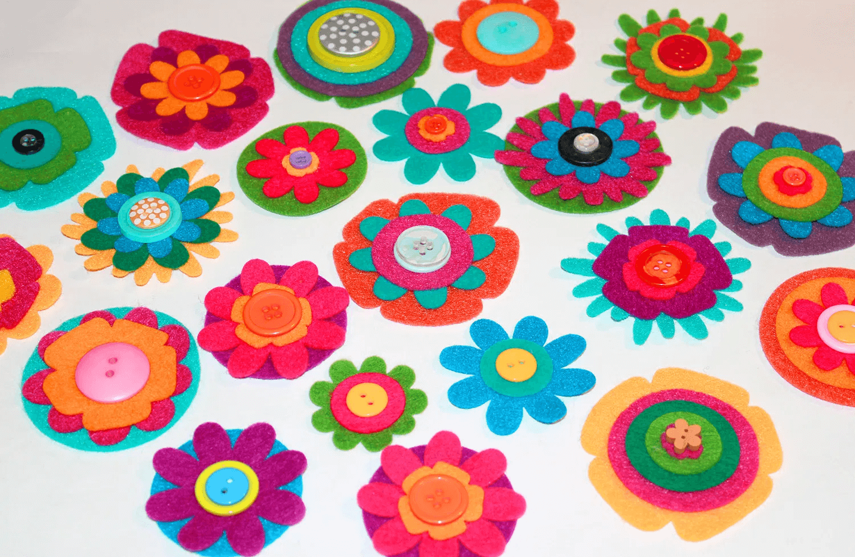 Fleurs en feutre DIY