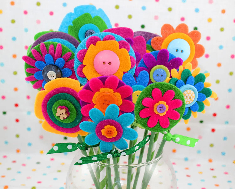 Fleurs en feutre faciles et rapides