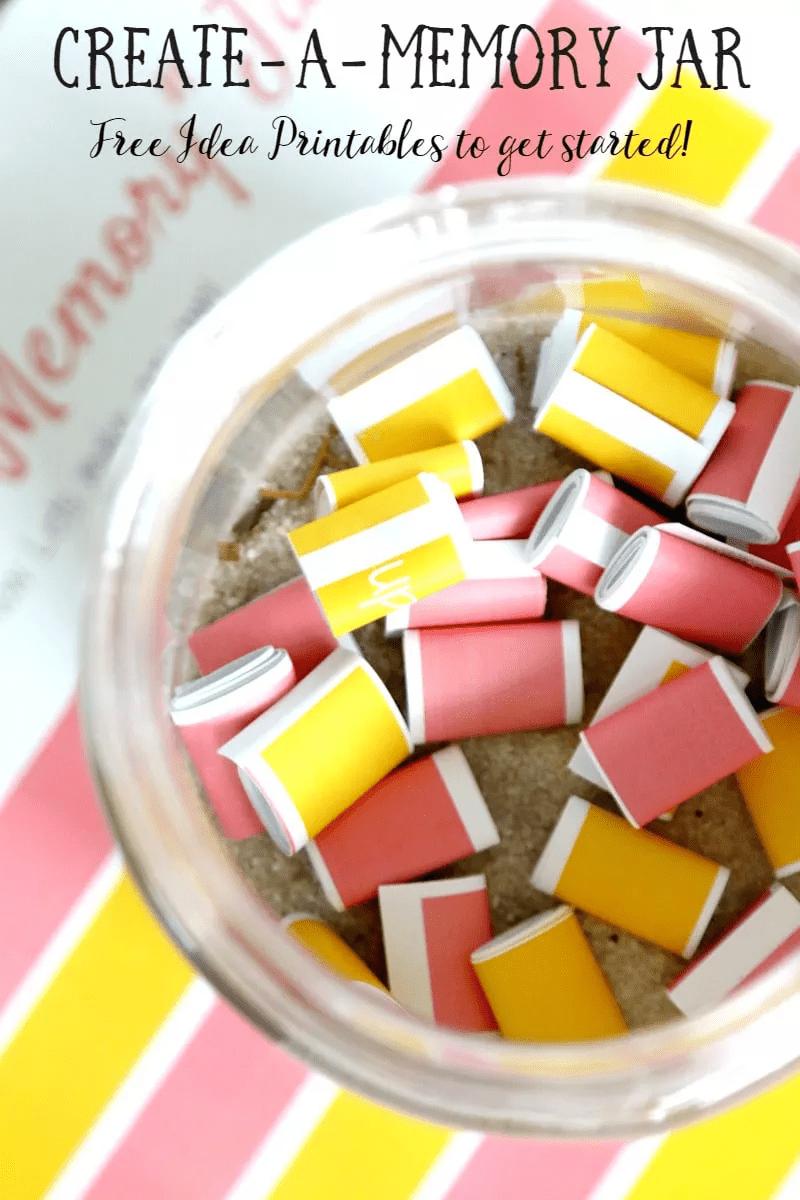 Créer un bocal à souvenirs