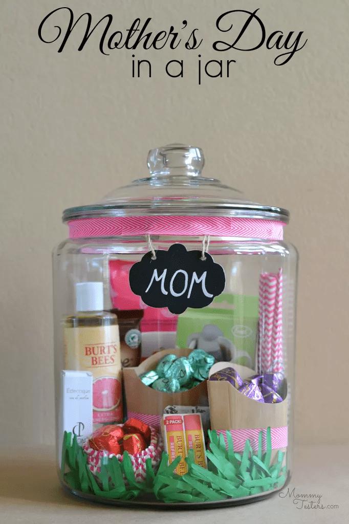 Les préférés de maman dans un bocal
