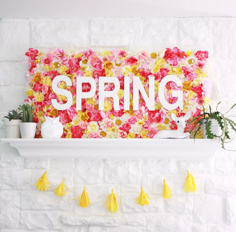 Panneau floral de printemps