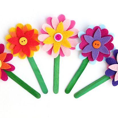 Signets en feutre à fleurs