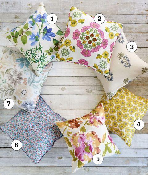 Coussins floraux DIY