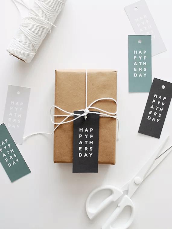 Étiquettes de cadeau pour la fête des pères