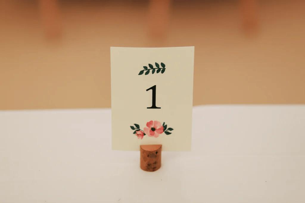 Imprimez de jolies cartes de table