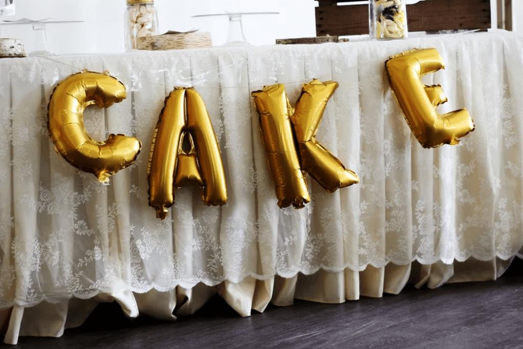 Lettres en forme de ballons