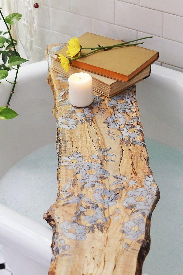 Tableau de baignoire à fleurs pressées