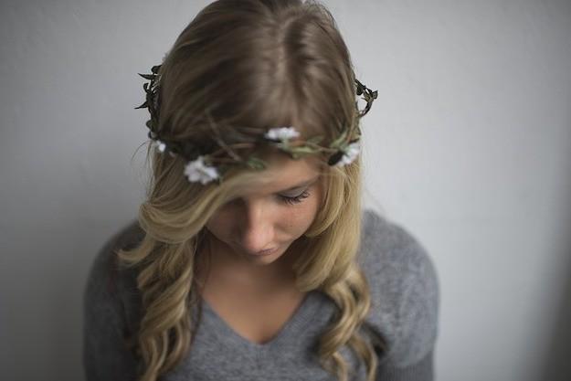couronne florale des bois