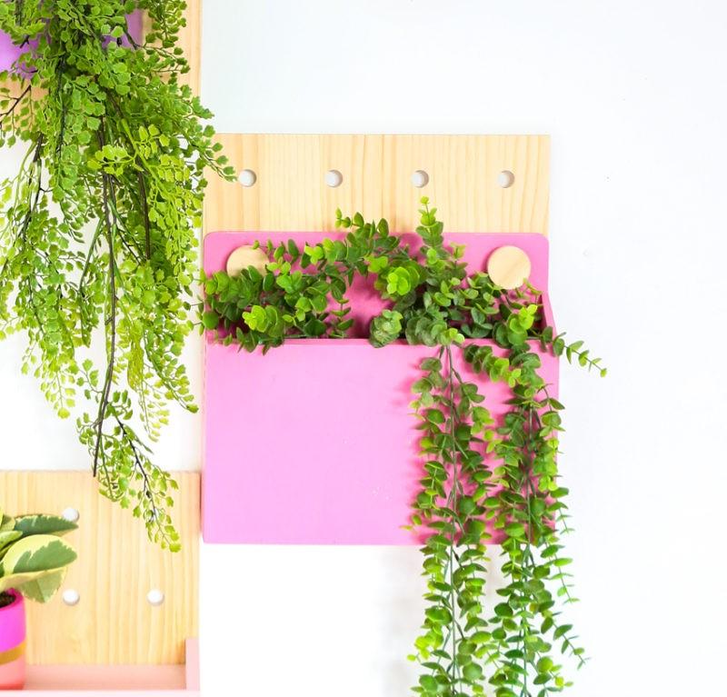 Mur végétal vivant avec du carton perforé
