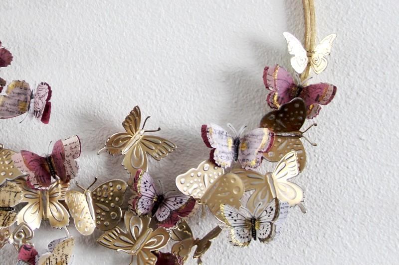 Couronne de papillons en aluminium diy