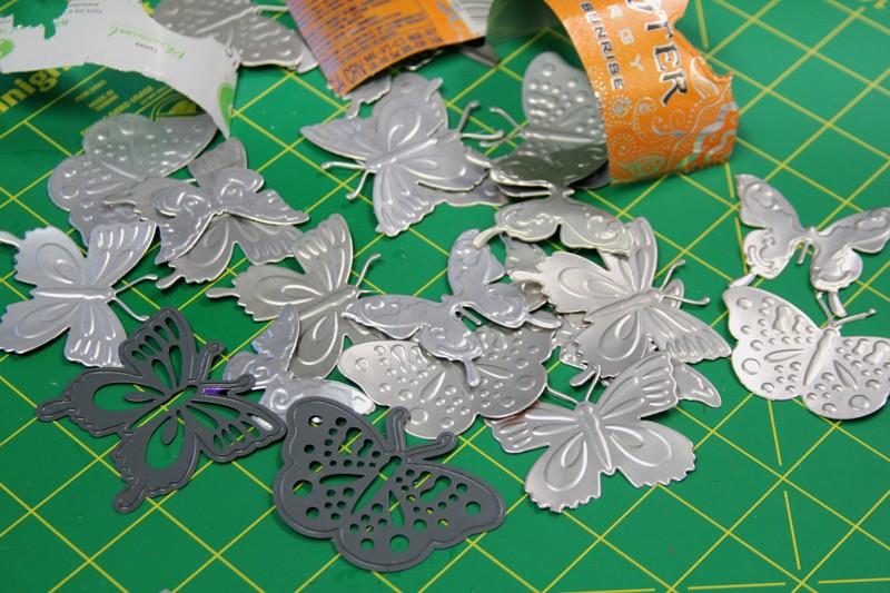 papillons maison en aluminium
